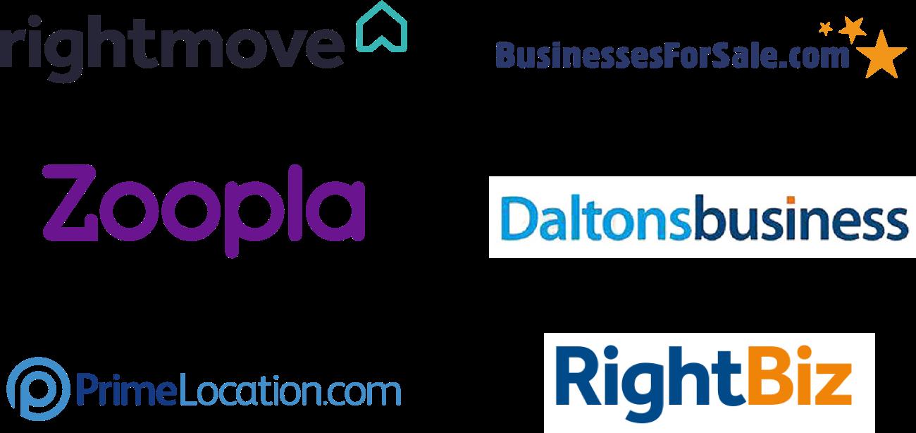 Rightmove, Businessforsale.com, Zoopla, Daltons Business, Prime Location, Rightbiz